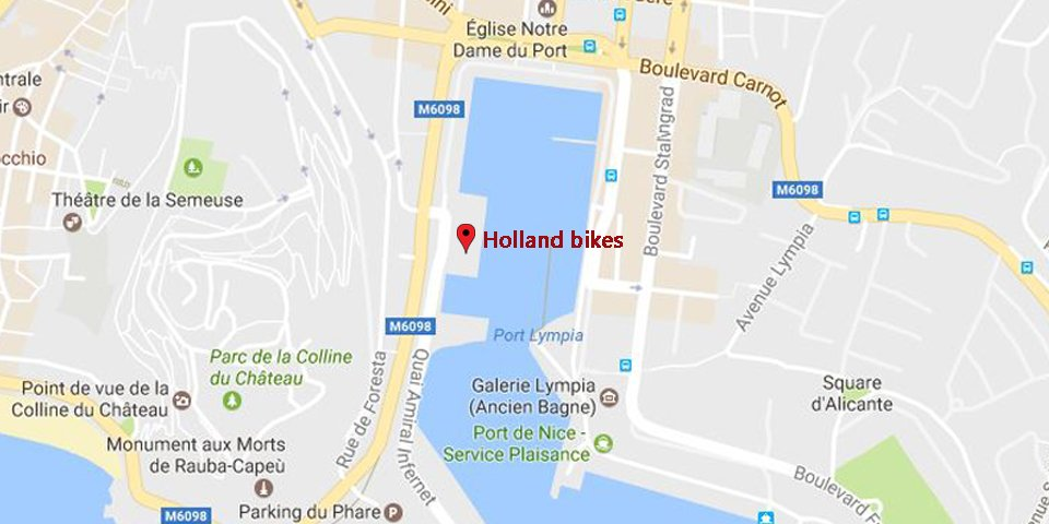 holland bikes nice tours guidés