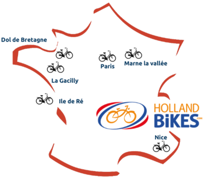 Map France Holland Bikes